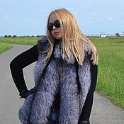 Одежда handmade. Livemaster - original item Vest fur black brown (silver) foxes.. Handmade.