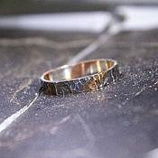 handmade. Livemaster - original item Mokume gane ring made of silver and copper