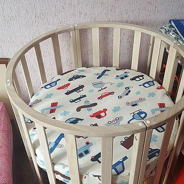 Текстиль ручной работы. Ярмарка Мастеров - ручная работа Постельное белье: простыня на резинке. Handmade.
