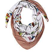 Аксессуары handmade. Livemaster - original item Scarf-bactus (double combined scarf). Handmade.