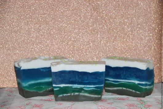 """Мыло ручной работы. Ярмарка Мастеров - ручная работа. Купить Мыло ручной работы """"Морская волна"""". Handmade. Тёмно-бирюзовый"""