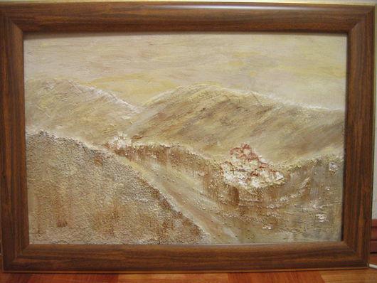 Пейзаж ручной работы. Ярмарка Мастеров - ручная работа. Купить Далеко в горах. Handmade.