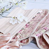 Одежда handmade. Livemaster - original item Cotton powdery corset. Handmade.