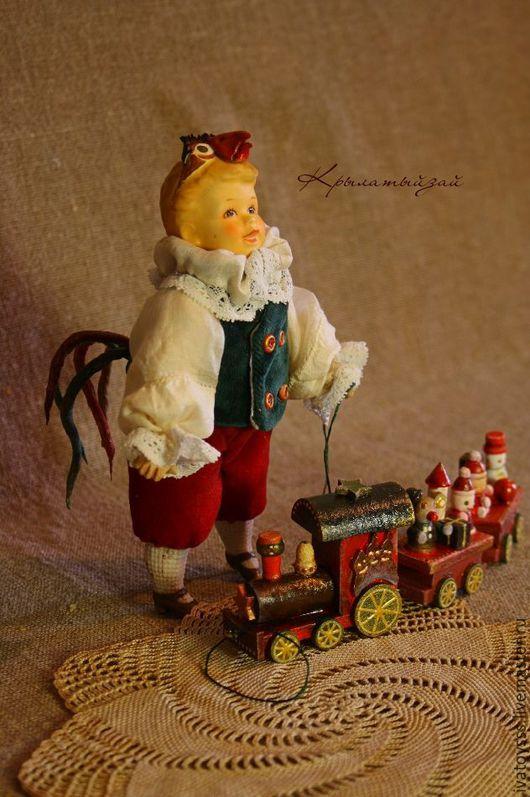 Новый год 2017 ручной работы. Ярмарка Мастеров - ручная работа. Купить Коллекционная куколка из антикварных деталей Петруша -петушок. Handmade.