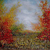 """Картины и панно ручной работы. Ярмарка Мастеров - ручная работа Картина""""Цвета осени""""осенний пейзаж. Handmade."""