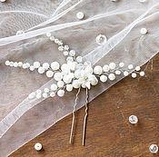 Свадебный салон ручной работы. Ярмарка Мастеров - ручная работа Шпилька для свадебной прически с цветами. Handmade.