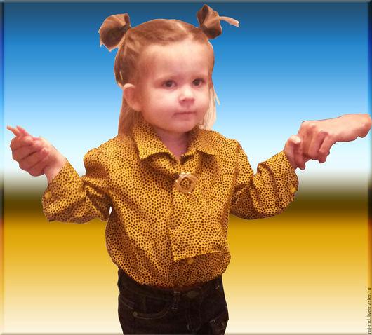 Для подростков, ручной работы. Ярмарка Мастеров - ручная работа. Купить блуза для девочки. Handmade. Желтый, в горошек, блузка
