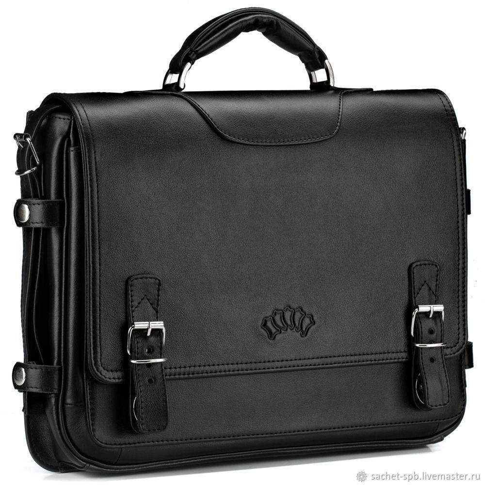 705d921a7060 Мужские сумки ручной работы. Ярмарка Мастеров - ручная работа. Купить Кожаный  портфель 'Арамис ...
