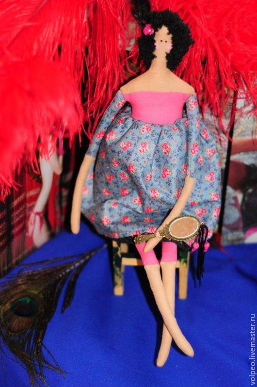 Куклы Тильды ручной работы. Ярмарка Мастеров - ручная работа. Купить Кукла Мулен Руж. Handmade. Тёмно-синий, розы