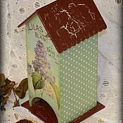 """Для дома и интерьера ручной работы. Ярмарка Мастеров - ручная работа Чайный домик """"Нежная сирень"""". Handmade."""
