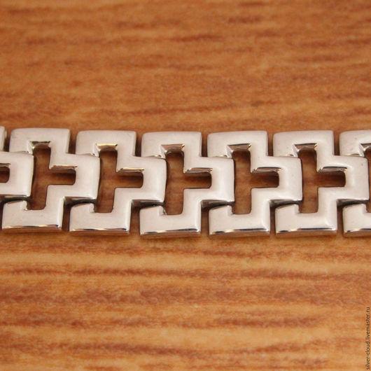 Украшения для мужчин, ручной работы. Ярмарка Мастеров - ручная работа. Купить Серебряный браслет Геометрия, серебро 925 пробы. Handmade.