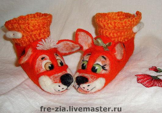 """Обувь ручной работы. Ярмарка Мастеров - ручная работа. Купить Пинеточки """"Рыжий ля мур"""". Handmade. Пинеточки для деточки, эксклюзив"""