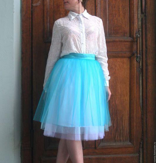 Юбки ручной работы. Ярмарка Мастеров - ручная работа. Купить Белая юбка из Фатина. Handmade. Юбка из фатина