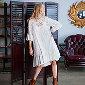 Свадебный салон ручной работы. Ярмарка Мастеров - ручная работа платье из вышитого шелка. Handmade.