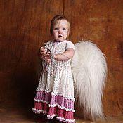 Работы для детей, handmade. Livemaster - original item Children`s knitted dress