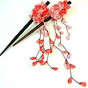 """Украшения ручной работы. Ярмарка Мастеров - ручная работа Канзаши """"Сакура"""". Handmade."""