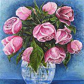 Картины и панно ручной работы. Ярмарка Мастеров - ручная работа Букет роз.. Handmade.