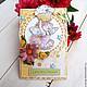 """Детские открытки ручной работы. Ярмарка Мастеров - ручная работа. Купить Открытка """"Маленькая фея"""". Handmade. Лимонный, детская открытка"""