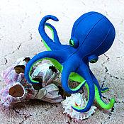Куклы и игрушки ручной работы. Ярмарка Мастеров - ручная работа мягкая игрушка из фетра Осьминог. Handmade.