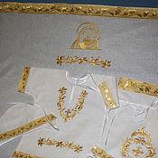 """Комплект для крещения ручной работы. Ярмарка Мастеров - ручная работа Комплект для крещения """"Пресвятая Богородица"""". Handmade."""