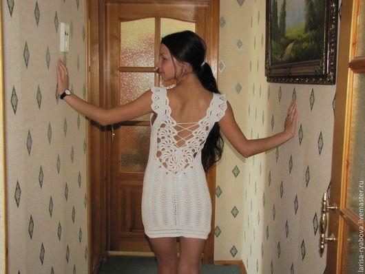 """Платья ручной работы. Ярмарка Мастеров - ручная работа. Купить Платье """"Очарование"""". Handmade. Белый, ручное вязание"""