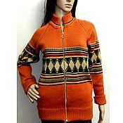 Одежда handmade. Livemaster - original item Jackets: Vintage knitted jacket with zipper. Handmade.