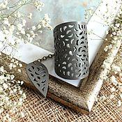 Украшения handmade. Livemaster - original item Pistachio leather bracelet openwork. Handmade.