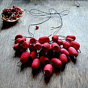 Украшения handmade. Livemaster - original item Necklace red black from dyed silk cocoons. Handmade.