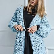 Одежда handmade. Livemaster - original item Cardigan knit in soft celestial color. Handmade.
