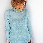 Одежда handmade. Livemaster - original item turtleneck mohair lana grossa. Handmade.