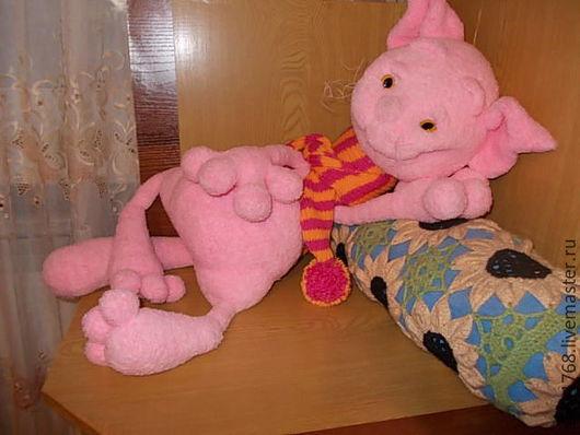 Игрушки животные, ручной работы. Ярмарка Мастеров - ручная работа. Купить мягкая вязанная игрушка кот Филимон. Handmade. Розовый