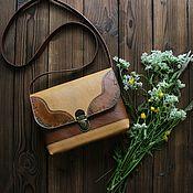Сумки и аксессуары handmade. Livemaster - original item Bag genuine leather boho tan / sand. Handmade.