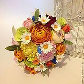 Цветы и флористика ручной работы. Ярмарка Мастеров - ручная работа Букет невесты полевые цветы. Handmade.