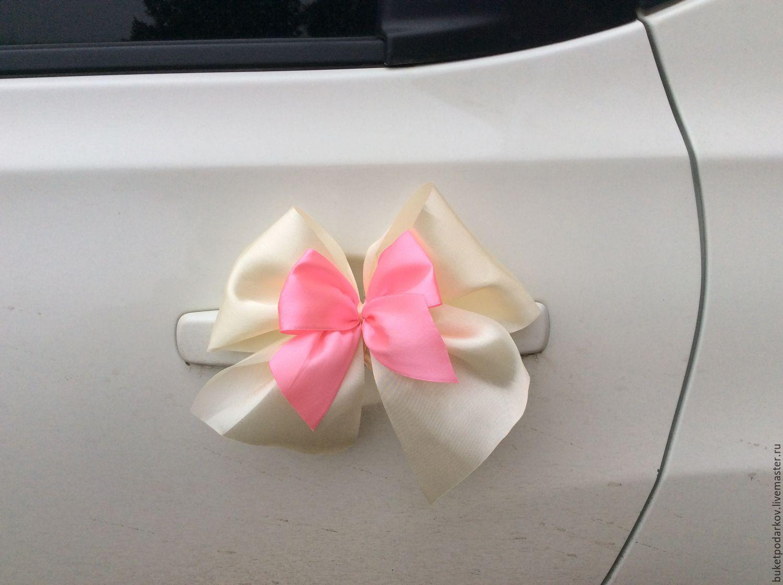 Свадебное украшение на ручку машины своими руками фото