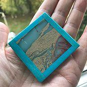 Материалы для творчества ручной работы. Ярмарка Мастеров - ручная работа Интарсия нат камень 50х50 мм. Handmade.