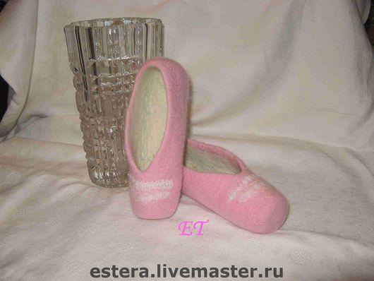 Детская обувь ручной работы. Ярмарка Мастеров - ручная работа. Купить Тапочки-балетки для девочки 4-5 лет. Handmade.