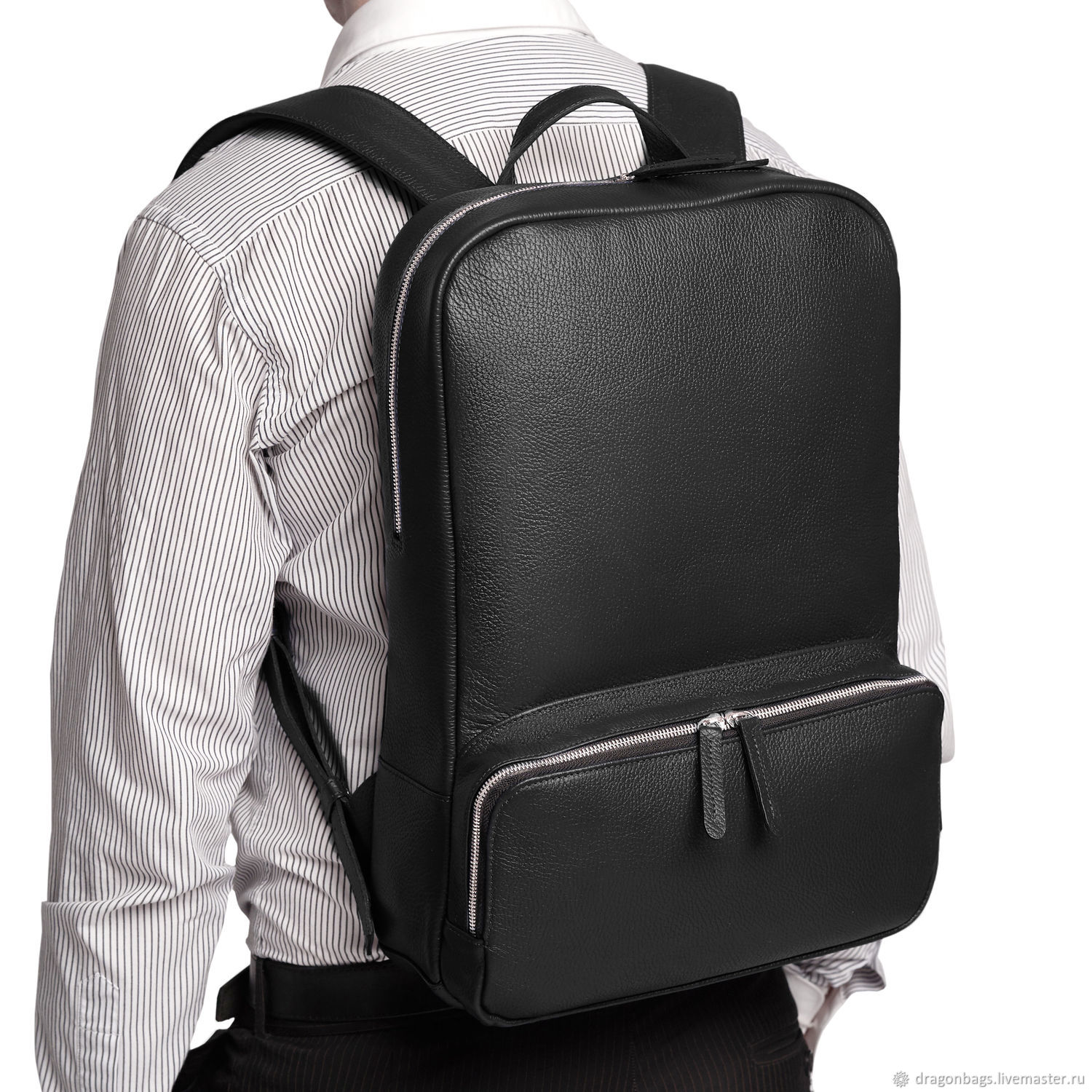 Backpack Leather Male Roy Black Shop Online On Livemaster With