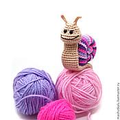 Куклы и игрушки ручной работы. Ярмарка Мастеров - ручная работа Розовые улитки - мягкая игрушка крючком - розовое настроение. Handmade.