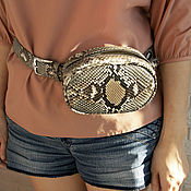 Сумки и аксессуары handmade. Livemaster - original item Agava Python leather handbag. Handmade.