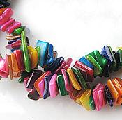 Материалы для творчества ручной работы. Ярмарка Мастеров - ручная работа Бусины из раковины, бесформенные, 8мм-11мм x 6мм-9мм, нить 38 см. Handmade.