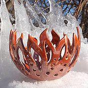 Для дома и интерьера handmade. Livemaster - original item Ceramic candlestick
