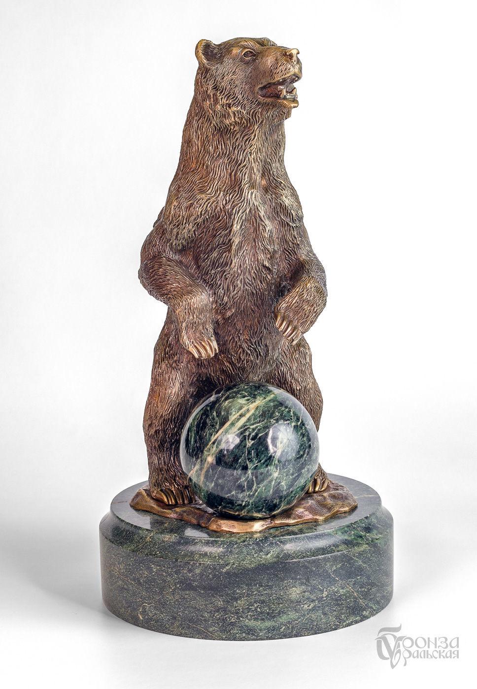 Медведь с шаром, Скульптуры, Челябинск,  Фото №1