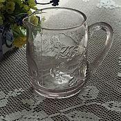 Винтаж handmade. Livemaster - original item Glass creamer, pressed glass,19th century. Handmade.