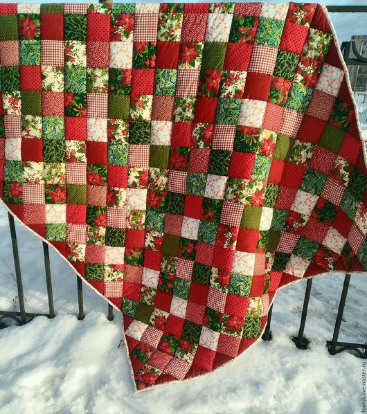"""Текстиль, ковры ручной работы. Ярмарка Мастеров - ручная работа. Купить Русское лоскутное одеяло """"Рождество"""" Новый год. Handmade."""