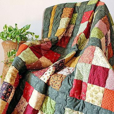 Текстиль ручной работы. Ярмарка Мастеров - ручная работа Лоскутное одеяло Булонский Лес плед хлопок. Handmade.