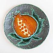 Посуда ручной работы. Ярмарка Мастеров - ручная работа Тарелка «Гранат». Handmade.