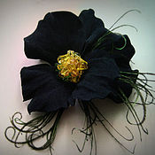 Украшения handmade. Livemaster - original item Jewelry made of leather.Brooch hairpin flower ANYTIN EYE.. Handmade.