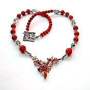 Украшения handmade. Livemaster - original item Necklace of red coral. Handmade.