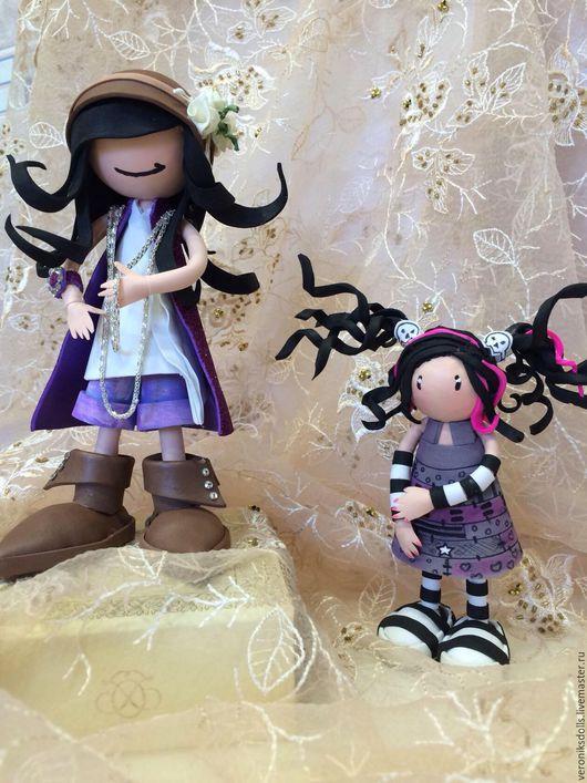 Коллекционные куклы ручной работы. Ярмарка Мастеров - ручная работа. Купить Кукла из фоамирана. Handmade. Фиолетовый, кукла в подарок, цветок