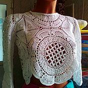 Одежда ручной работы. Ярмарка Мастеров - ручная работа Кружевная блузка. Handmade.